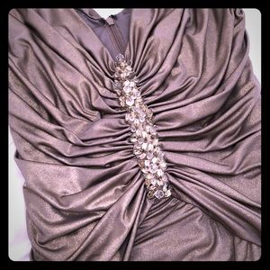 Cache Formal Gold Dress